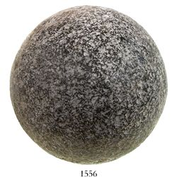 Spanish stone roundshot (cannonball) from a 1588 Spanish Armada site near Ostend, Belgium.