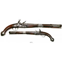 Flintlock pistol, Eastern European, mid-1700s.