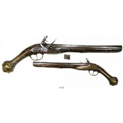 Flintlock pistol, Eastern European, ca. 1750.
