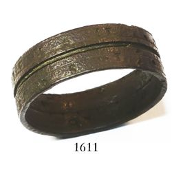 Bronze ring sundial from a 1700s wreck off Europe.
