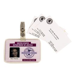 Prop ID Badge and Business cards made for Julia Roberts in Conspiracy Theory