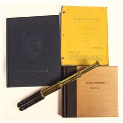 Signed Photo Album, Atlas, Script & Telescope Crew Gift from Master and Commander
