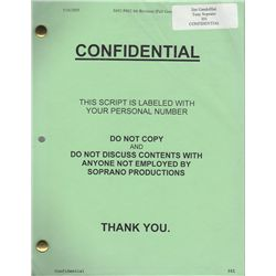 James Gandolfini Set of 3 Personal Scripts from The Sopranos