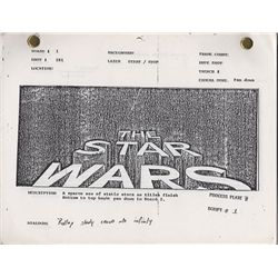 Star Wars Episode 4: A New Hope Storyboards