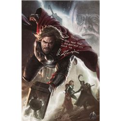 Chris Hemsworth Signed Thor Movie Poster