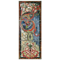 Stained glass window, 3 separate panels in orig frames, beautiful multi-colored windows in Exc cond,