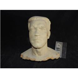 ARNOLD SWARZENEGGER FULL BUST LIFE CAST AS WOOD STATUE