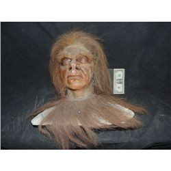 CAVE MAN FULL HEAD MASK ON LIFE CAST