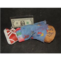 CHILD'S PLAY CHUCKY GOOD GUY DOLL LEG WITH SCREEN USED PROPS FROM EVERY FILM SIGNED BY STARS