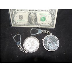 BATMAN FOREVER SCREEN USED TWO FACE COIN MADE INTO KEYCHAIN