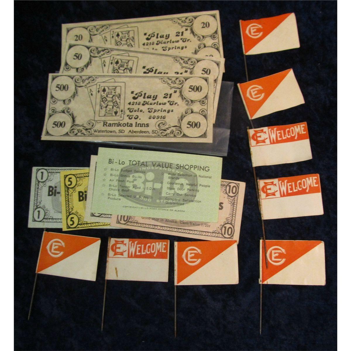 5 Different Alaska Food Stamp Coupons Set Of