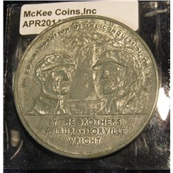 977.       LARGE (50mm) Wright Brothers Medal, marked ©1973 Americana Medallion Co.
