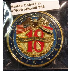 "986.       LARGE, very detailed Enameled Challenge Coin – Operation Iraqi Freedom 2006-2007 – ""We Bu"