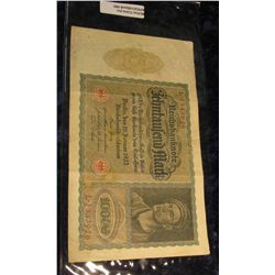 990.       Germany 1922 10,000 Mark (large) banknote