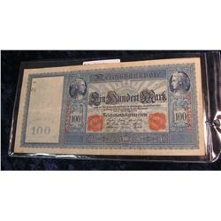 1001.   Germany 1910 100 Mark (large) banknote