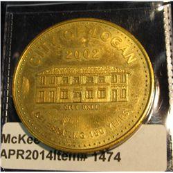 1474.  City of Logan, WV Celebrating 150 years 1852-2002 commemorative medal