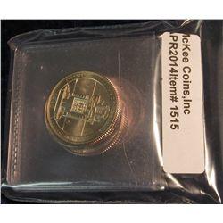 1515.  5 BU 2010-P Washington National Park Quarters, all from mint sets – AR, WY, CA, AZ, OR – gre