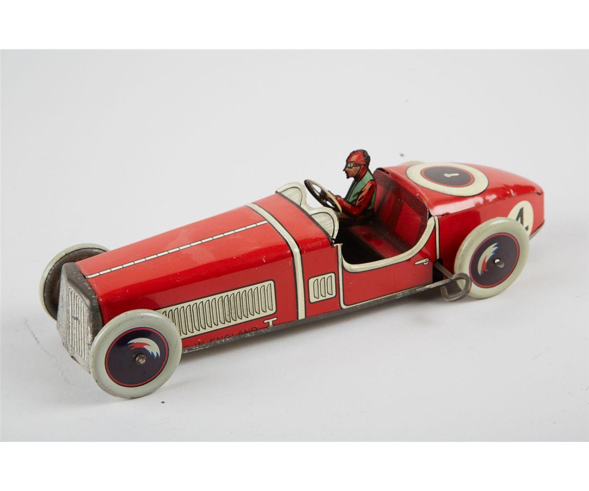 Litho  Tin No  4, Toy Race Car