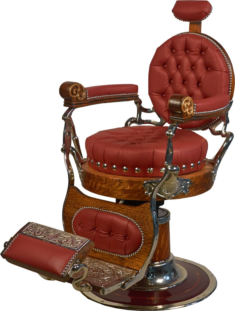 Old Barber Chairs >> Antique Melchior Bros Chicago Round Seat Barber Chair