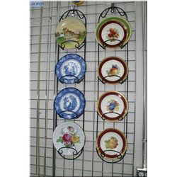 Selection of collectible plates including Doulton, Minton, Bayreuth, Ducal etc.