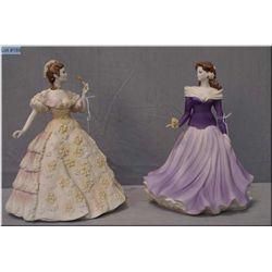 "Two Coalport figurines including ""Age of Elegance-Society Ball"" and ""Summer Love"""