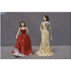 "Two small Royal Doulton figurines including ""Georgia ""HN5188 and ""Emma""HN4813 both hand signed by Mi"