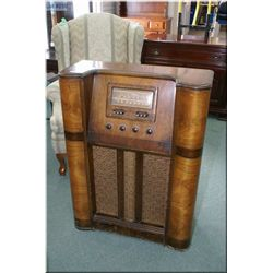 Walnut cased floor standing Viking radio