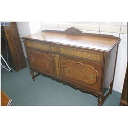 Walnut sideboard with interesting fitted drawer made by Knechtel to match lot 254