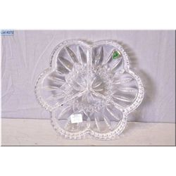 A Waterford crystal divided dish