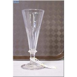 Antique fluted wine tasting glass circa 1830
