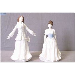 "Two small Royal Doulton figurines including ""Joy"" HN4569 and ""Melody"" HN4117"