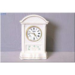 Blue mark Belleek Glenveigh mantle clock