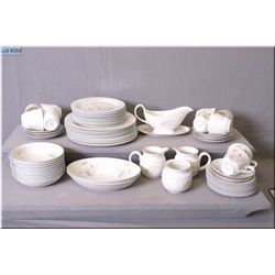 A selection of Royal Vale china including dinner plates, side plates, bread and butter, soup bowls,