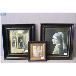 Three vintage framed pictures, all by Dutch artists