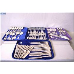 A large selection of Roberts and Belk silver plate flatware including setting for twelve of dinner k