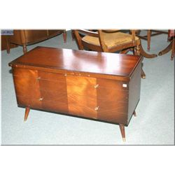 1960's matched grain cedar lined blanket box made by The Honderich Furniture Co. Ontario