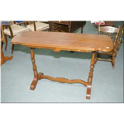 Walnut double pedestal sofa table