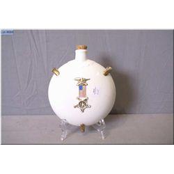 Antique porcelain canteen with Civil War Medal of Honour decoration