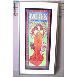 A framed artist signed limited edition 1/100 Bob Masse print for the Works Art and Design Festival