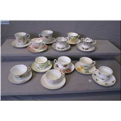 A selection of collectible cups and saucer including Royal Albert, Royal Staffordshire etc.