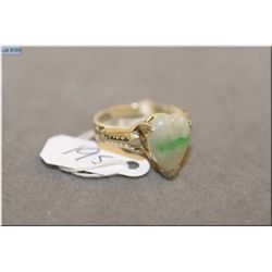 Lady's sterling silver ring set with cabochon stone