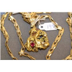"Lady's 14kt yellow gold Gents custom made 24"" neck chain. Retail replacement value $10,341.00"