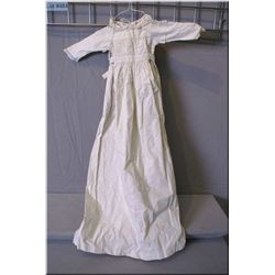Antique white cotton and lace Christening gown