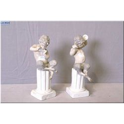 """A pair of Lladro Pan figures 11"""" in height"""