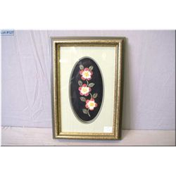 A framed floral motif moose tufting