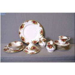 A selection of Royal Albert  Old Country Roses  including eight bullion under trays, one six piece p