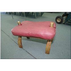 A camel saddle/stool