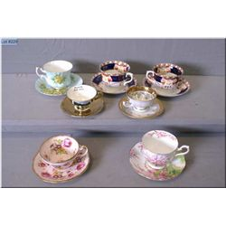 A selection of collectible tea cups and saucers including Royal Albert, Foley, Colclough etc.