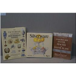 Three collector's reference books, two on silver collecting and one on Victorian household goods