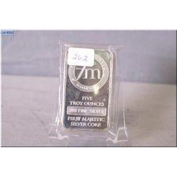 Five ounce sterling silver ingot